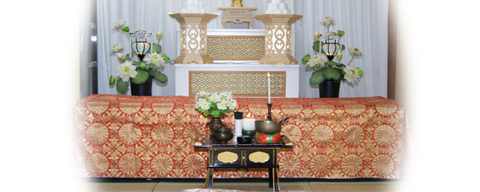 自宅葬プラン15祭壇