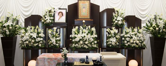 一般葬プラン60祭壇