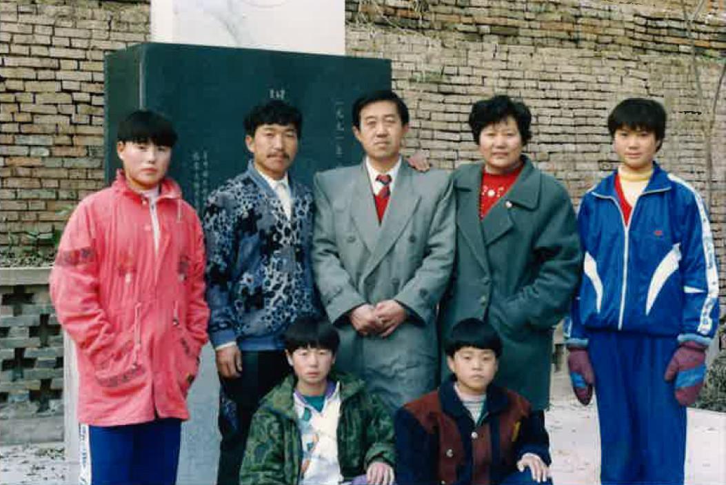 陳先生家族との写真