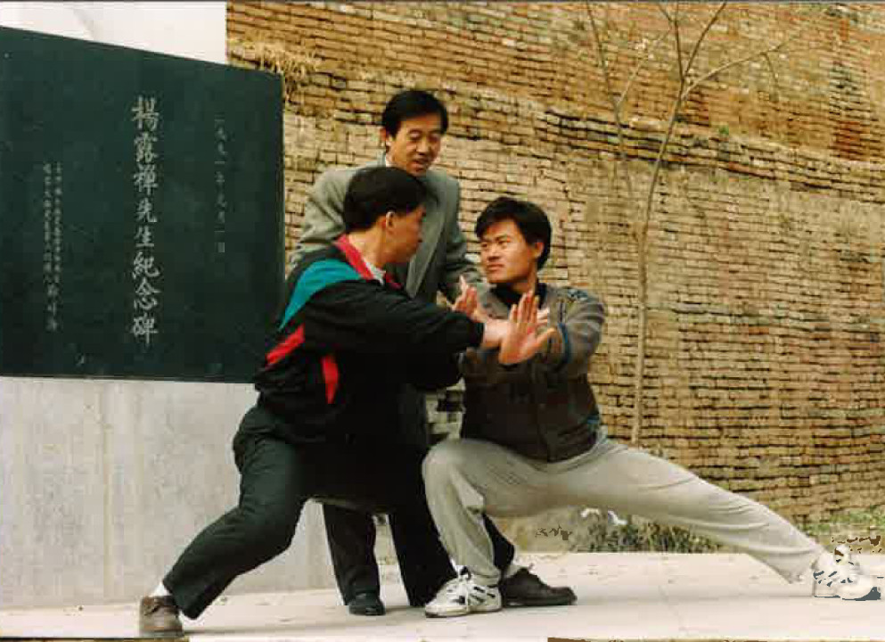 陳正雷先生と王海軍と王嵐先生の写真