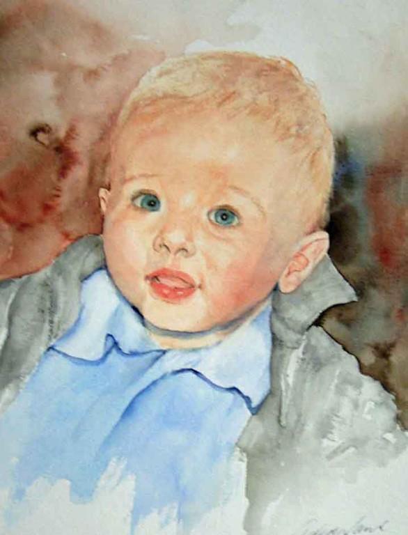 Baby Jonathan, 30x40 verkauft,(c)D.Saul 2011,Kinderportrait