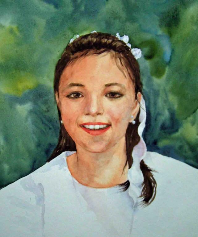 Selina, 30x40cm verkauft,(c)D.Saul 2011,Mädchen-Portrait