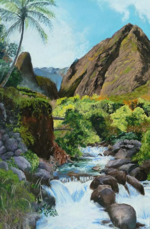 """Iao Valley"" 22x29cm,gerahmt  40x50cm , (C)D.Saul 2015"