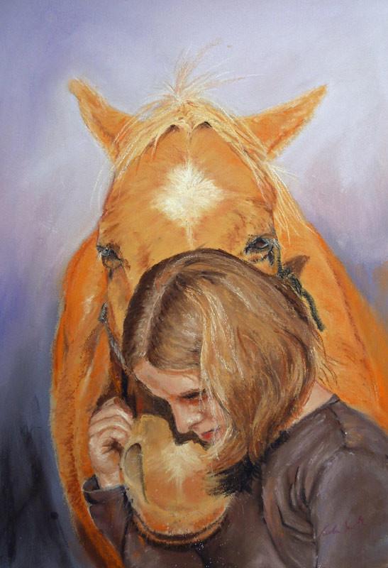 """Trust"",Pastell 26x38cm,(C)D.Saul 2015, Ref. P.Christensen"