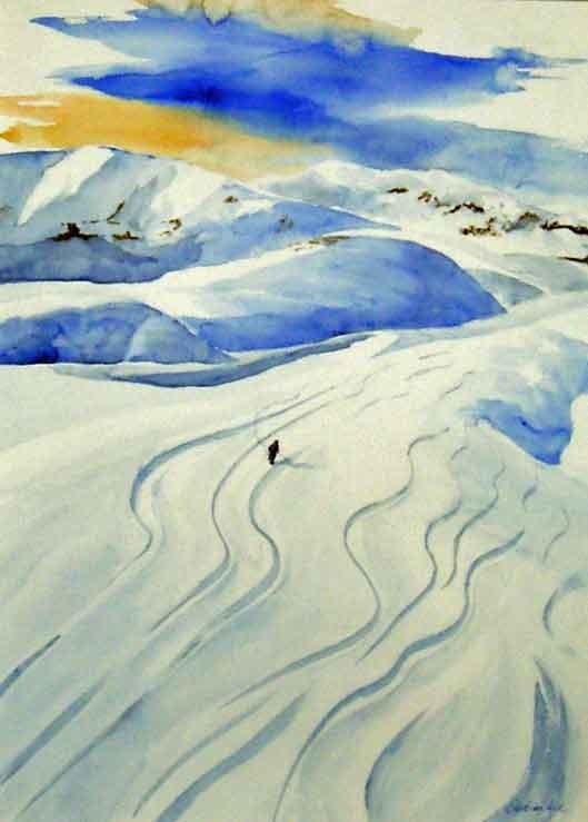 Einsam im Schnee, 60x80cm,(c)D.Saul 2011,Anden-Schnee-Wintersport