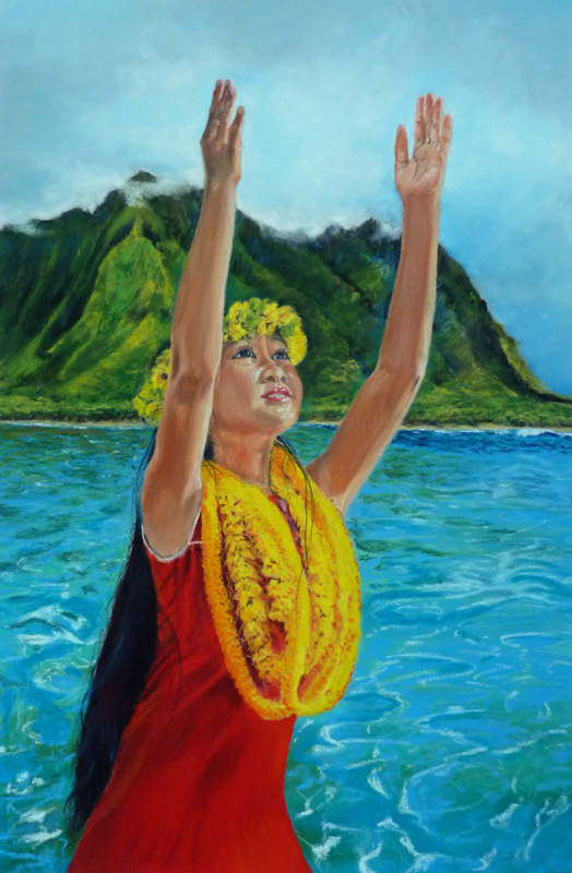 """Aloha"" Pastell 40x60cm, (C) D.Saul 2016, Ref. J. Beaufort"