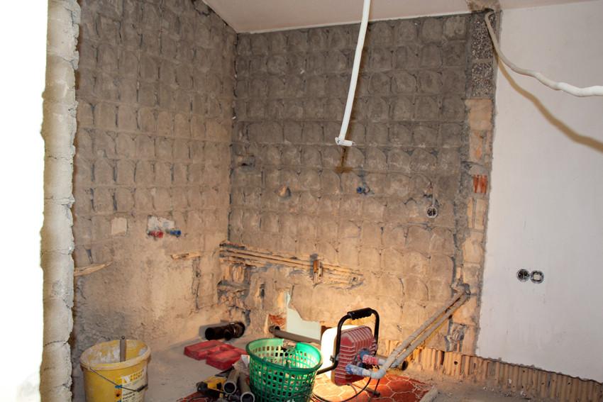 Badraum, Grundriss wurde vergrößert