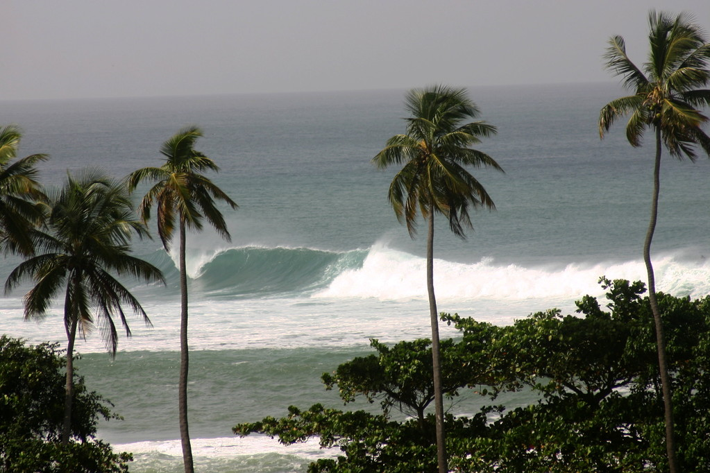 Big surf at Tres Palmas in Puerto Rico