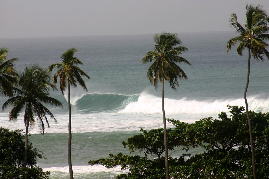 Big surf at Tres Palmas in Puerto Rico