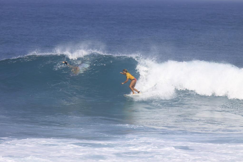 Surfing Aguadilla, Puerto Rico