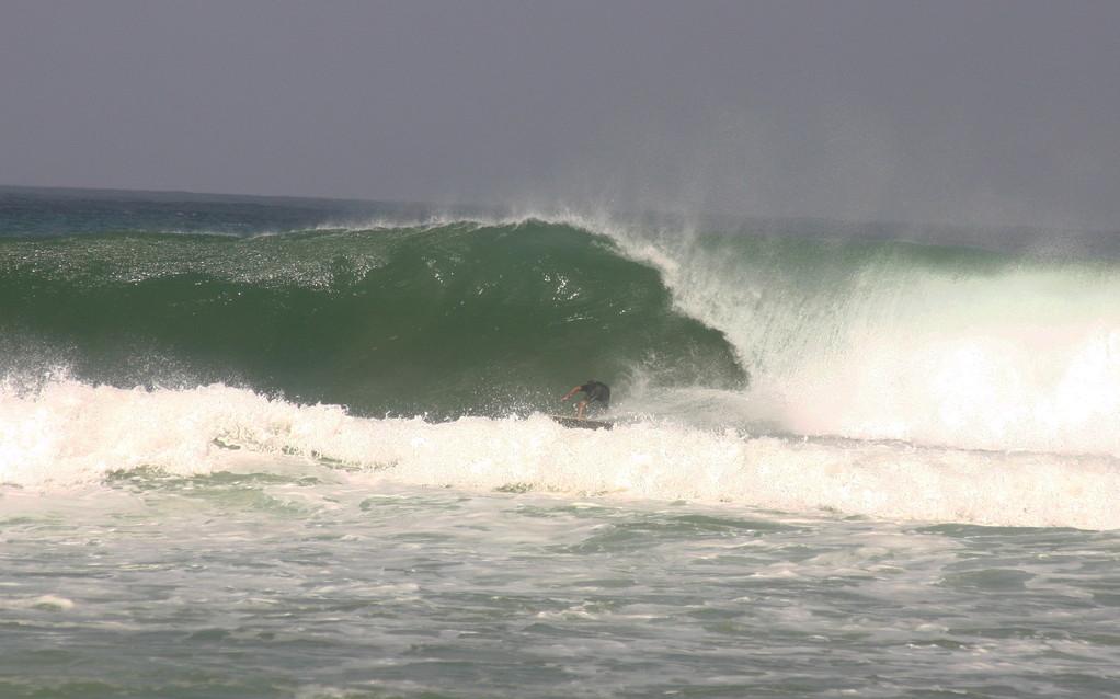 Surfing Dogman's Beach in Rincon