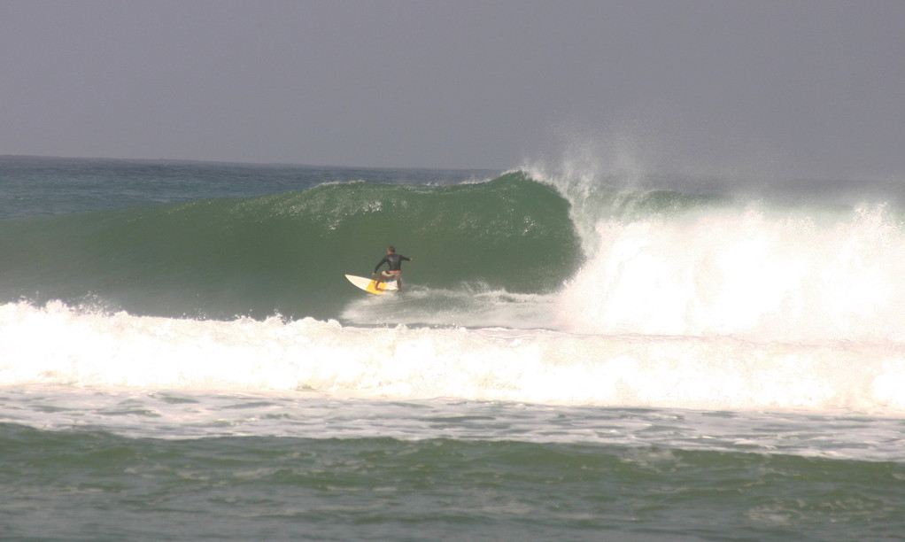 Surfing Sandy Beach in Rincon, Puerto Rico