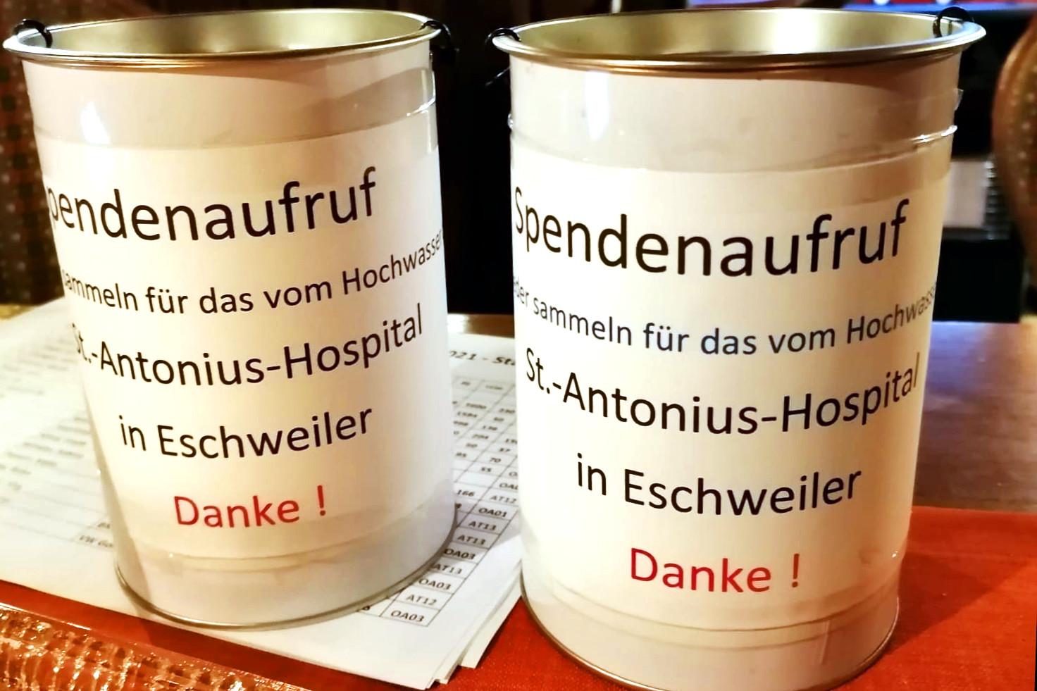 Spendenaktion: 3000,-€ für das St. Antonius Hospital in Eschweiler