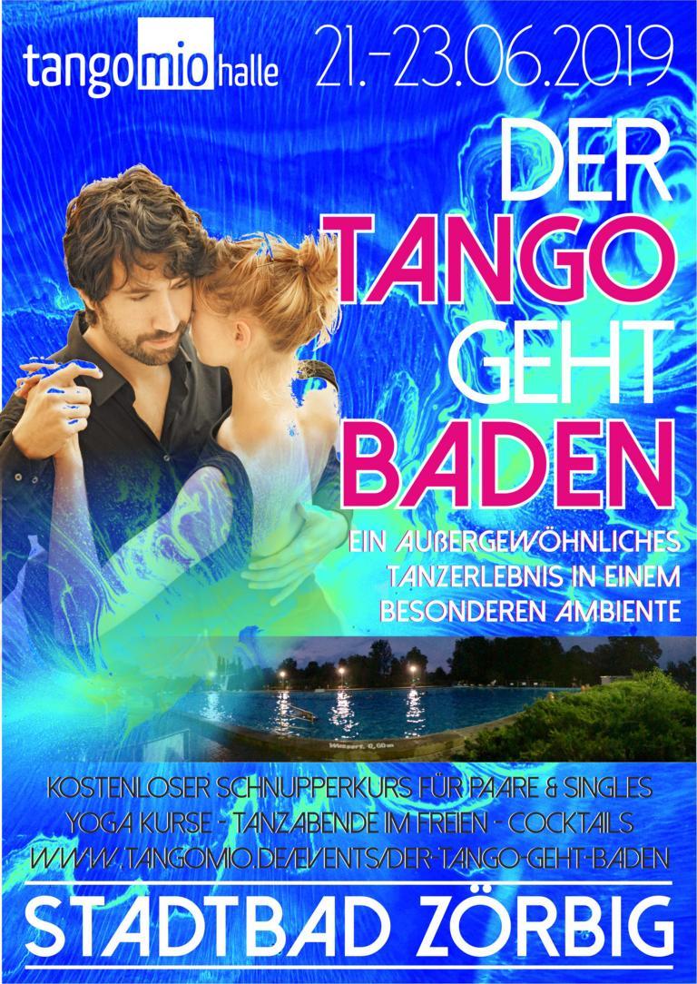 Der Tango geht baden! - Milongas & Workshops im Freibad Zörbig (21.-23. Juni 2019)