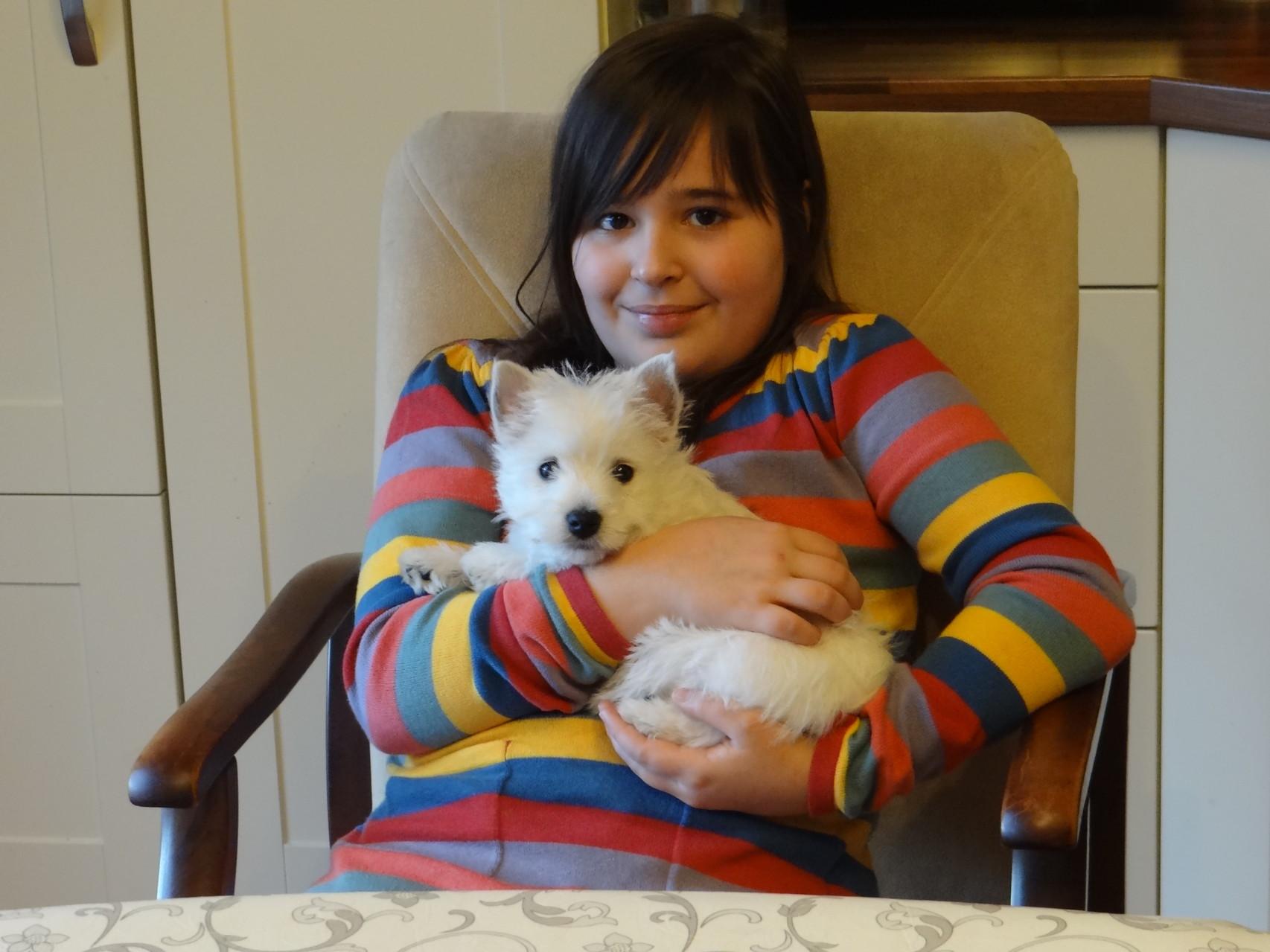 Paula mit Ihrer neuen Freundin Hanna