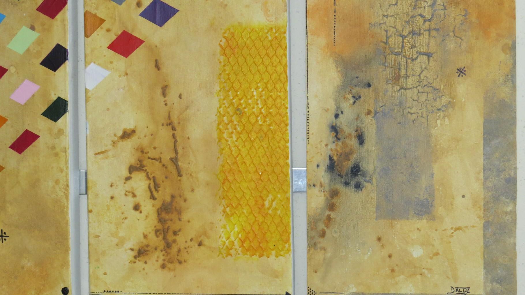 circuit imprimé zoom1 - daluz galego tableau abstrait abstraction