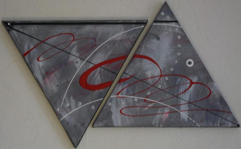 parcours, vue face, tableau abstrait. abstraction