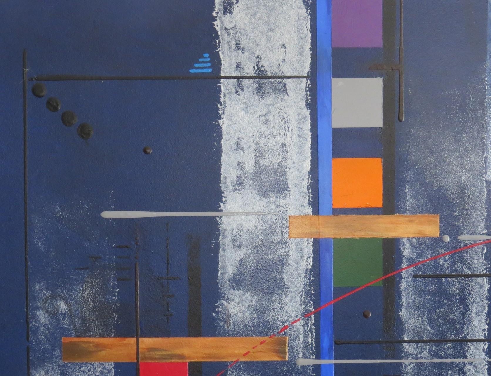 bleu d'argent vue zoom3 - daluz galego tableau abstrait abstraction