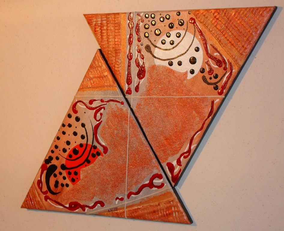 mars, vue côté, tableau abstrait. abstraction