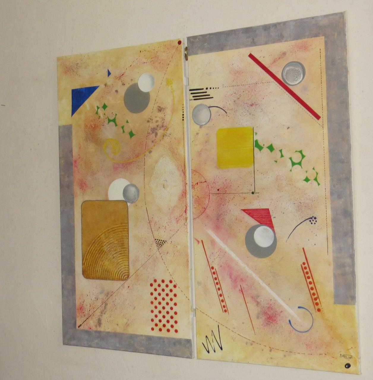 comètes vue côté2 - daluz galego tableau abstrait abstraction