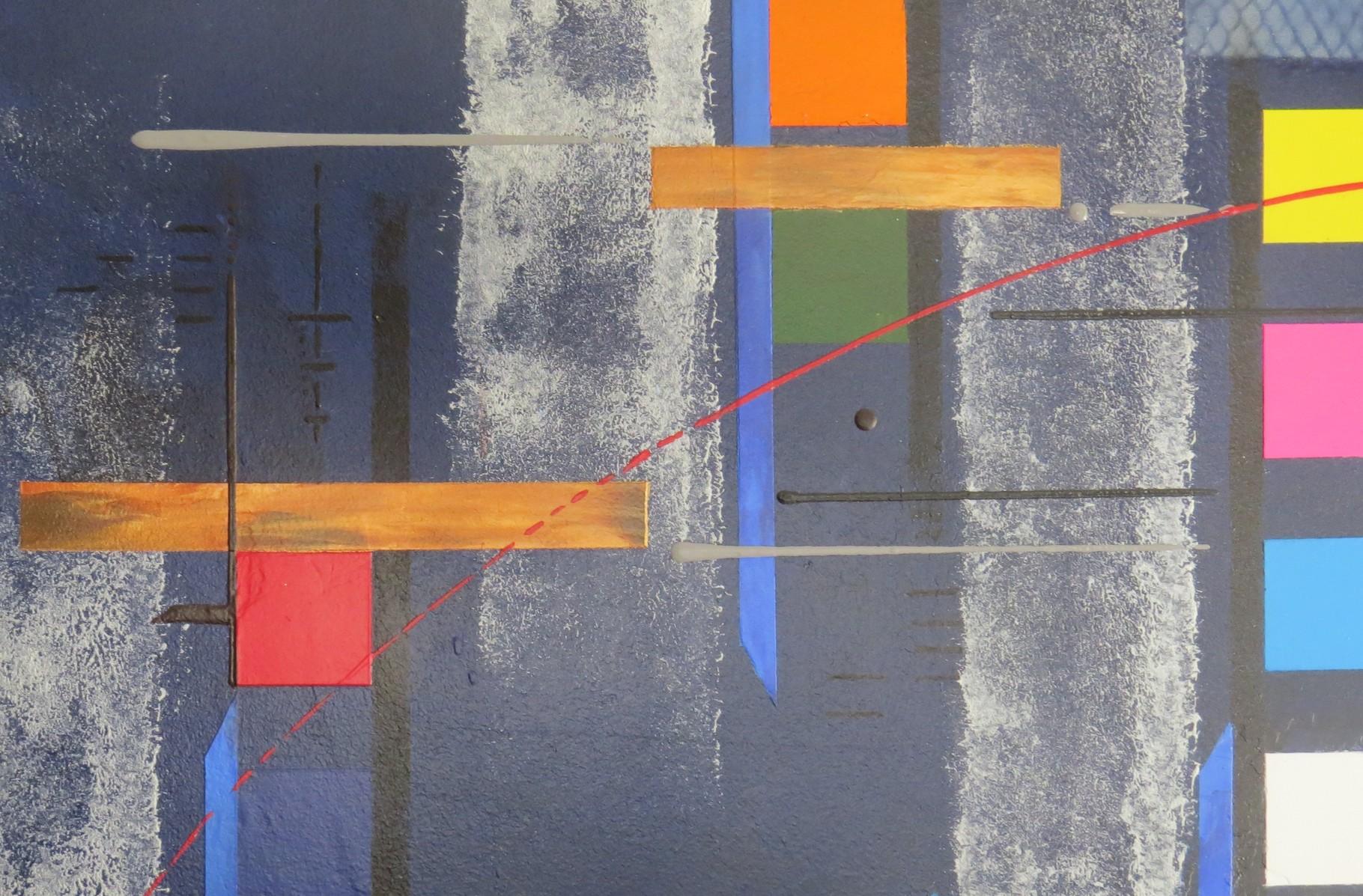 bleu d'argent vue zoom6 - daluz galego tableau abstrait abstraction