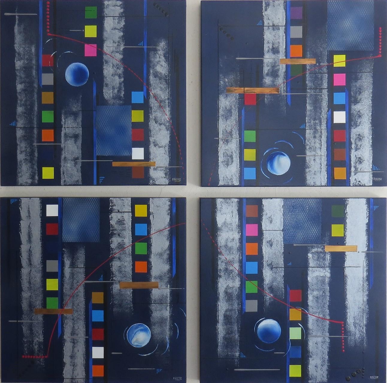 bleu d'argent vue face1 - daluz galego tableau abstrait abstraction