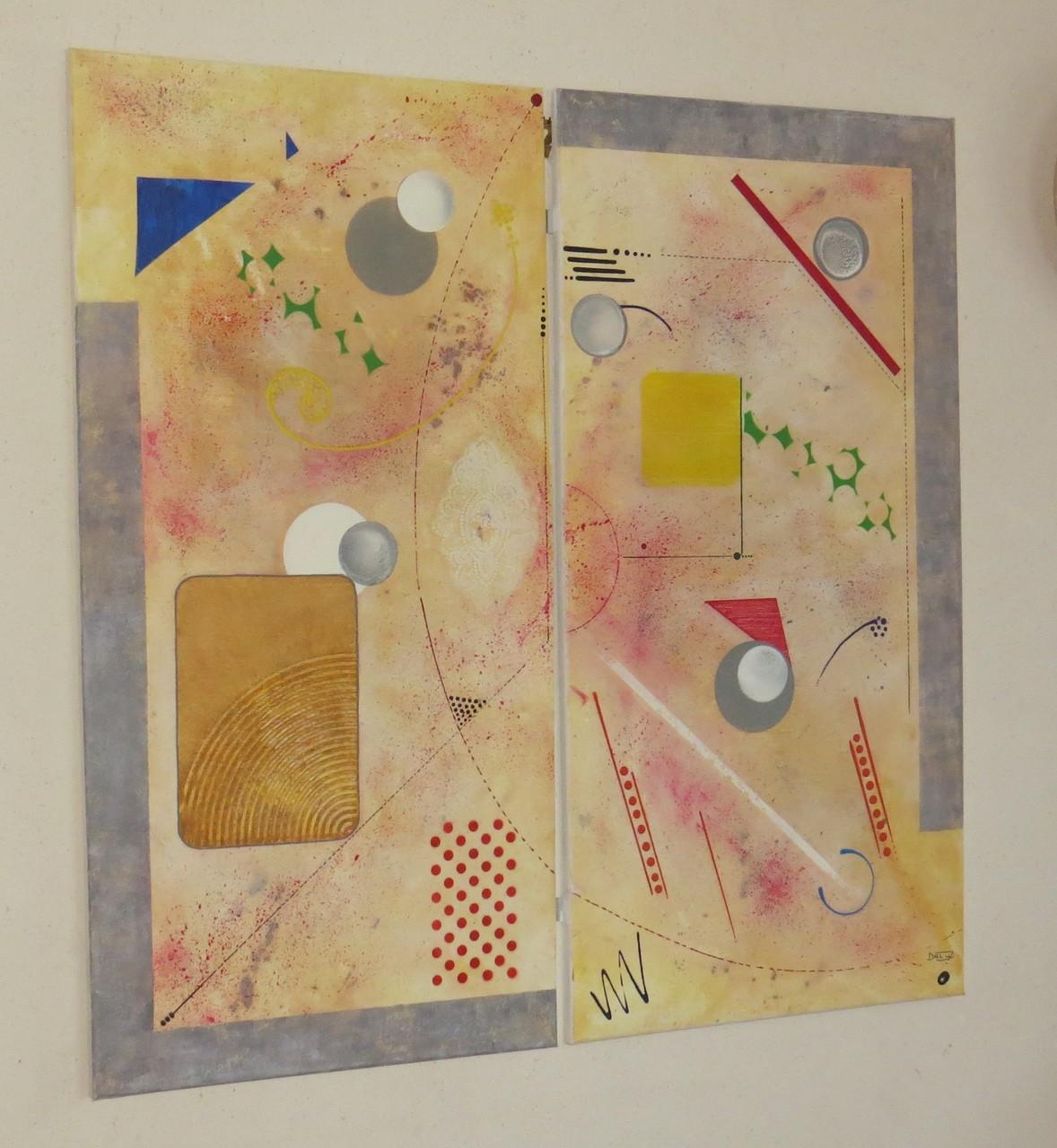 comètes vue côté1 - daluz galego tableau abstrait abstraction