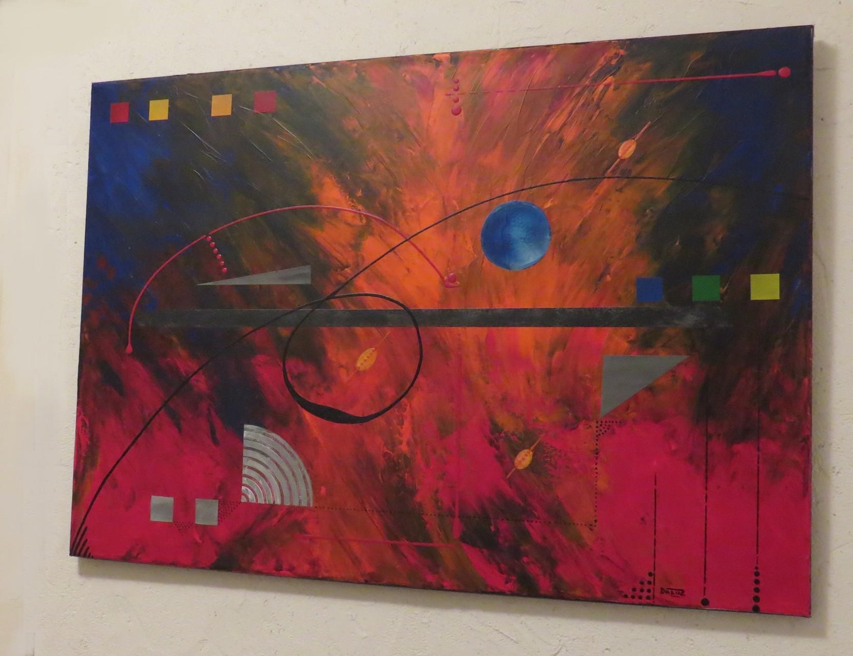 éruption. vue côté2 - daluz galego tableau abstrait abstraction