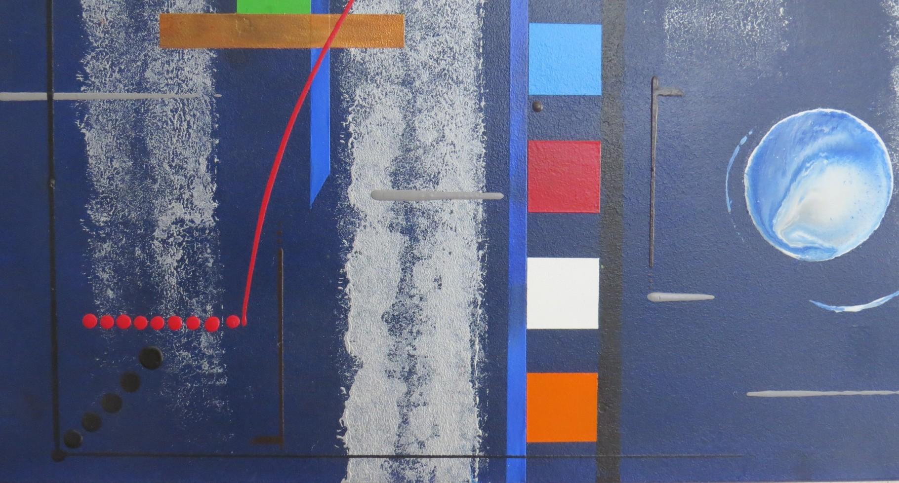 bleu d'argent vue zoom4 - daluz galego tableau abstrait abstraction