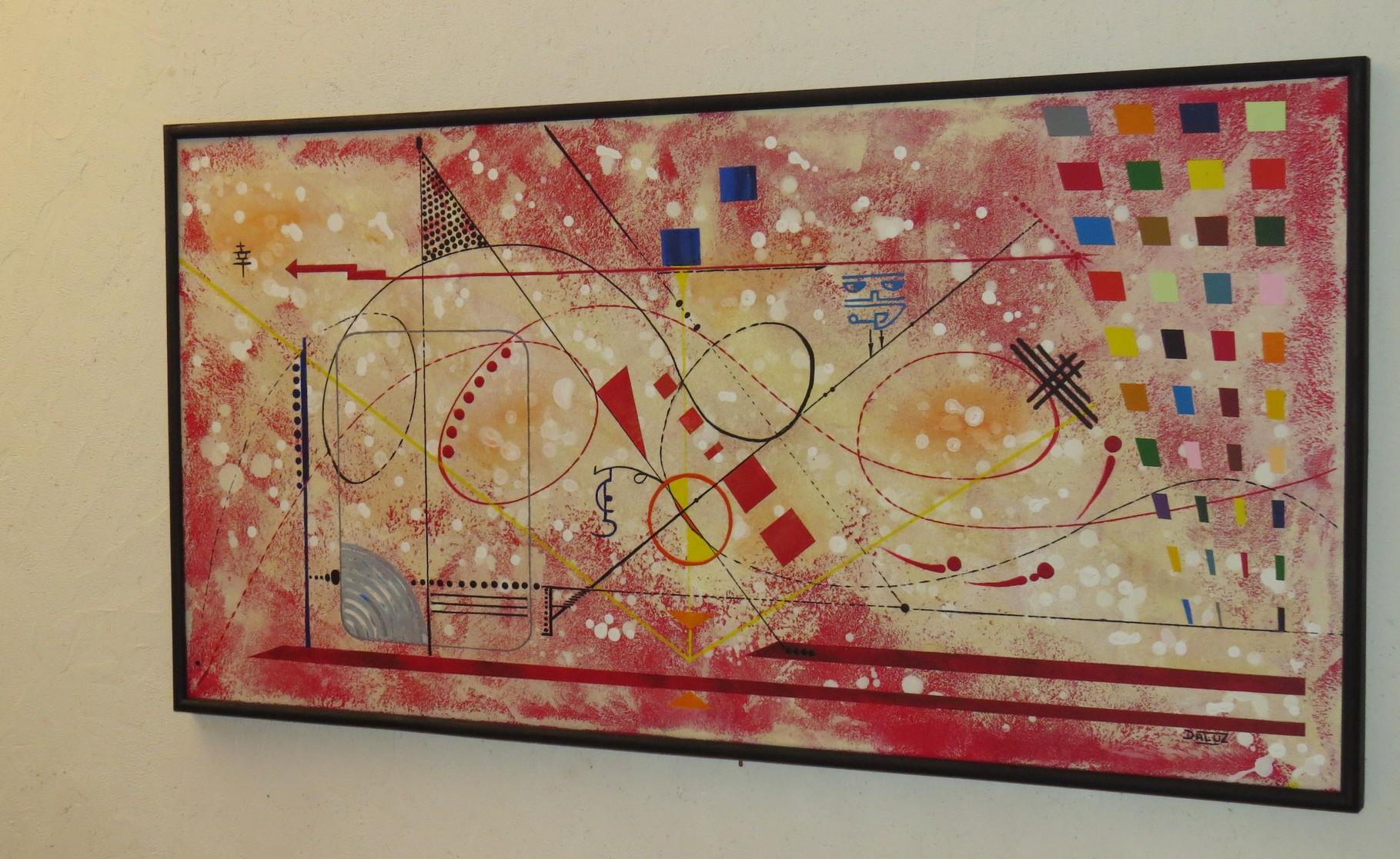 vers le bonheur. vue côté 2. tableau. abstrait. abstraction