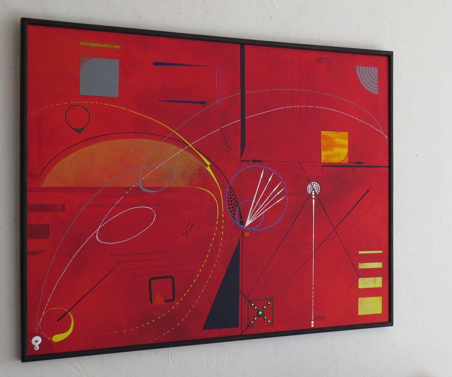 courbes du temps vue côté 1. tableau. abstrait. abstraction