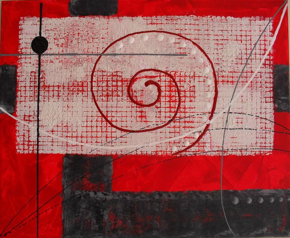 colimaçon - vue face. tableau abstrait. abstraction