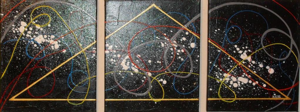 maçonnique, vue face, tableau abstrait. abstraction