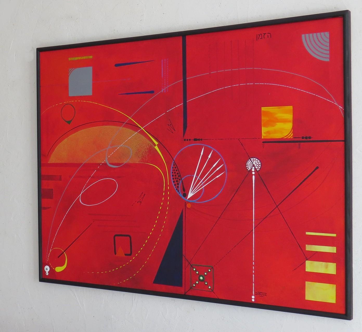 courbes du temps vue côté 2. tableau. abstrait. abstraction