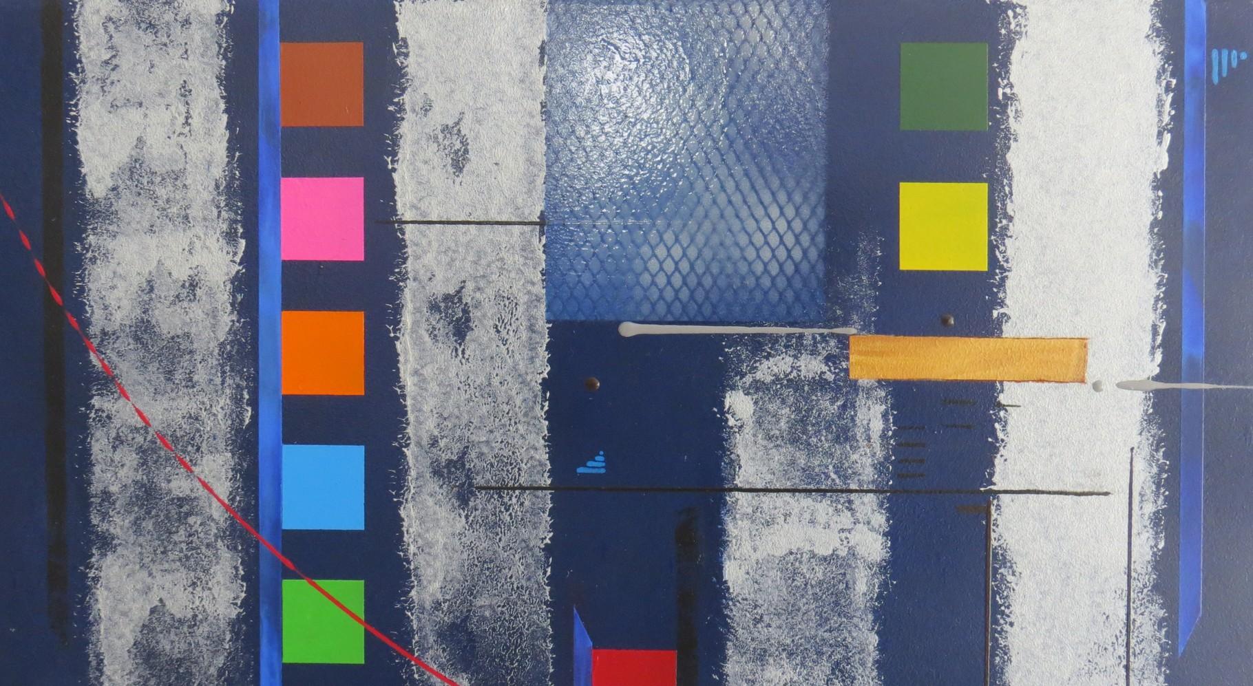 bleu d'argent vue zoom2 - daluz galego tableau abstrait abstraction