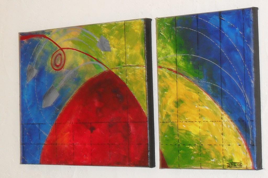 guerre, vue côté. tableau. abstrait. abstraction
