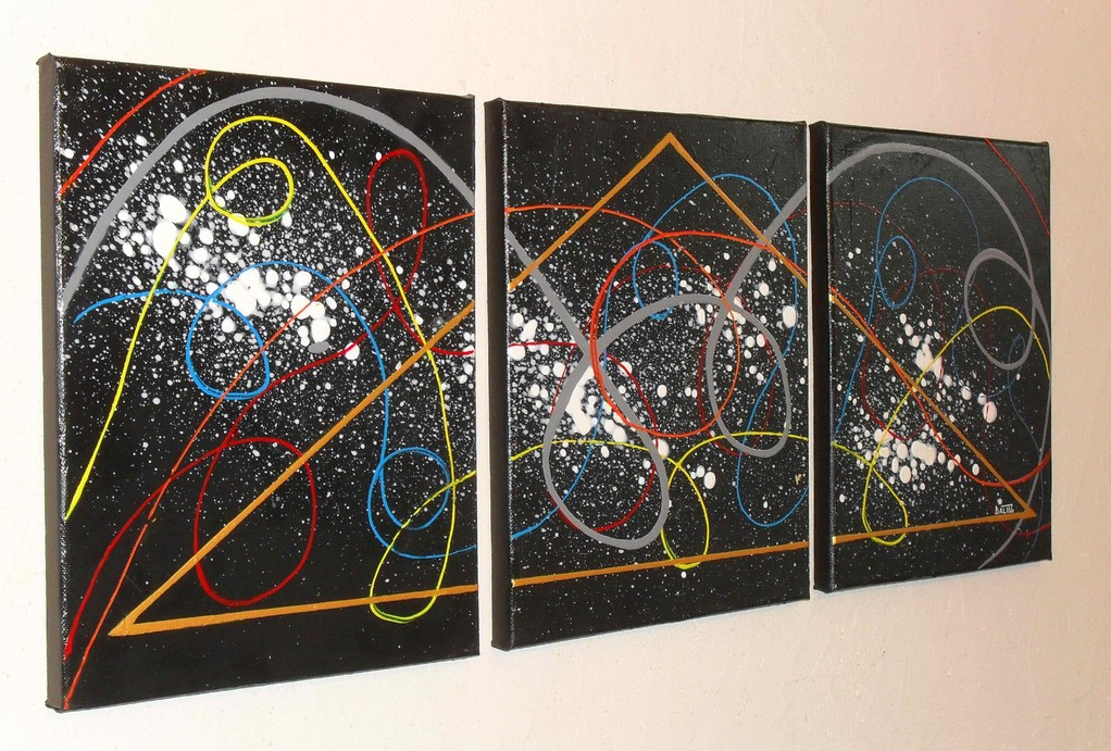 maçonnique vue côté2, tableau abstrait. abstraction