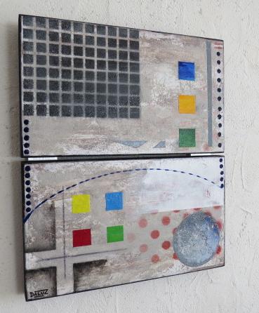 relais daluz galego peinture tableau abstrait abstraction
