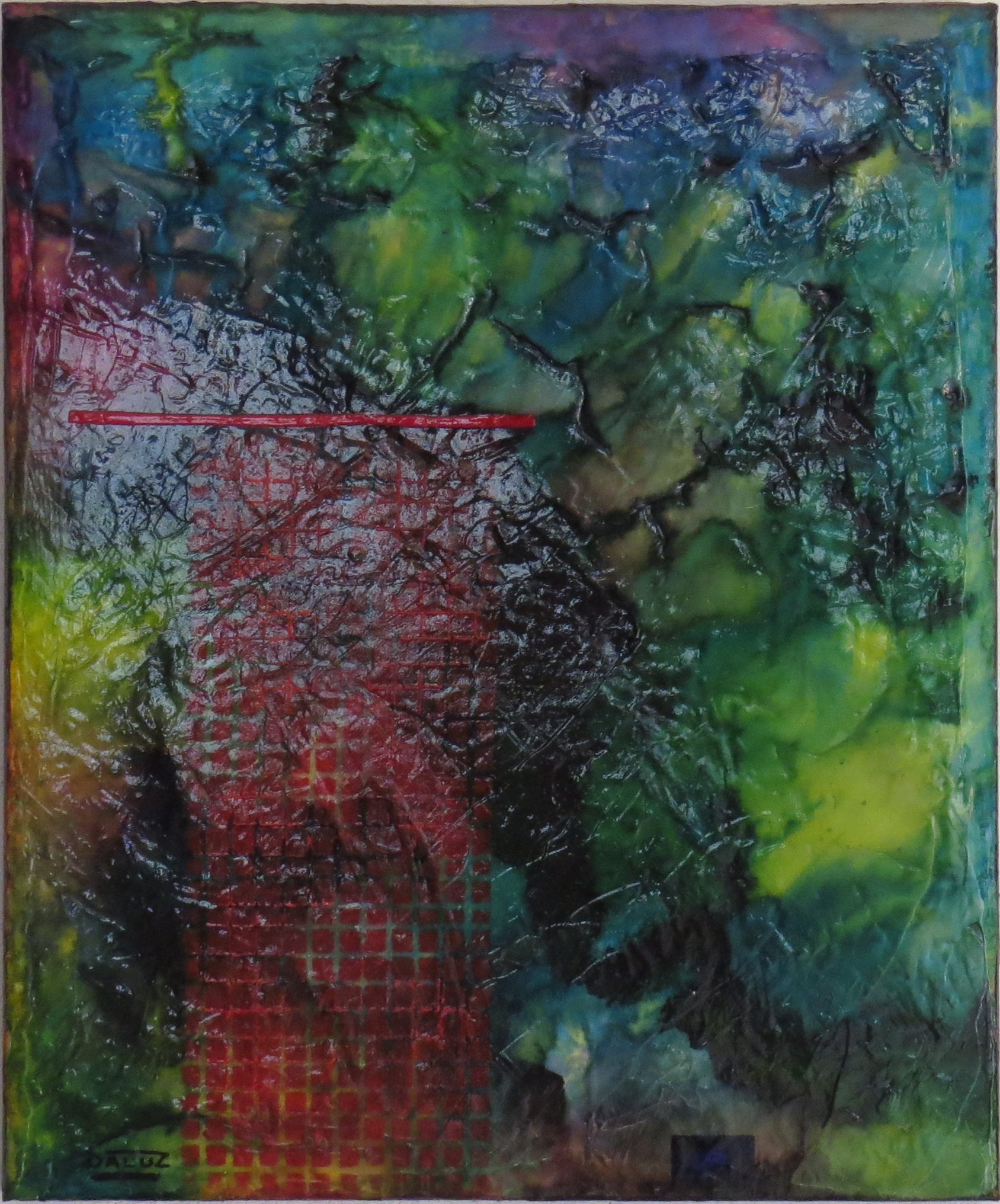 nimbes - vue face2 - DALUZ GALEGO - peinture abstraite