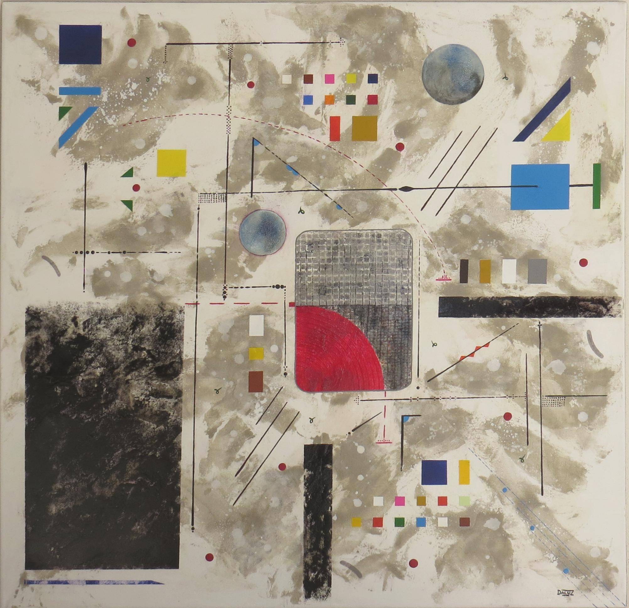 bunker sidéral - vue face2 - DALUZ GALEGO - peinture abstraite