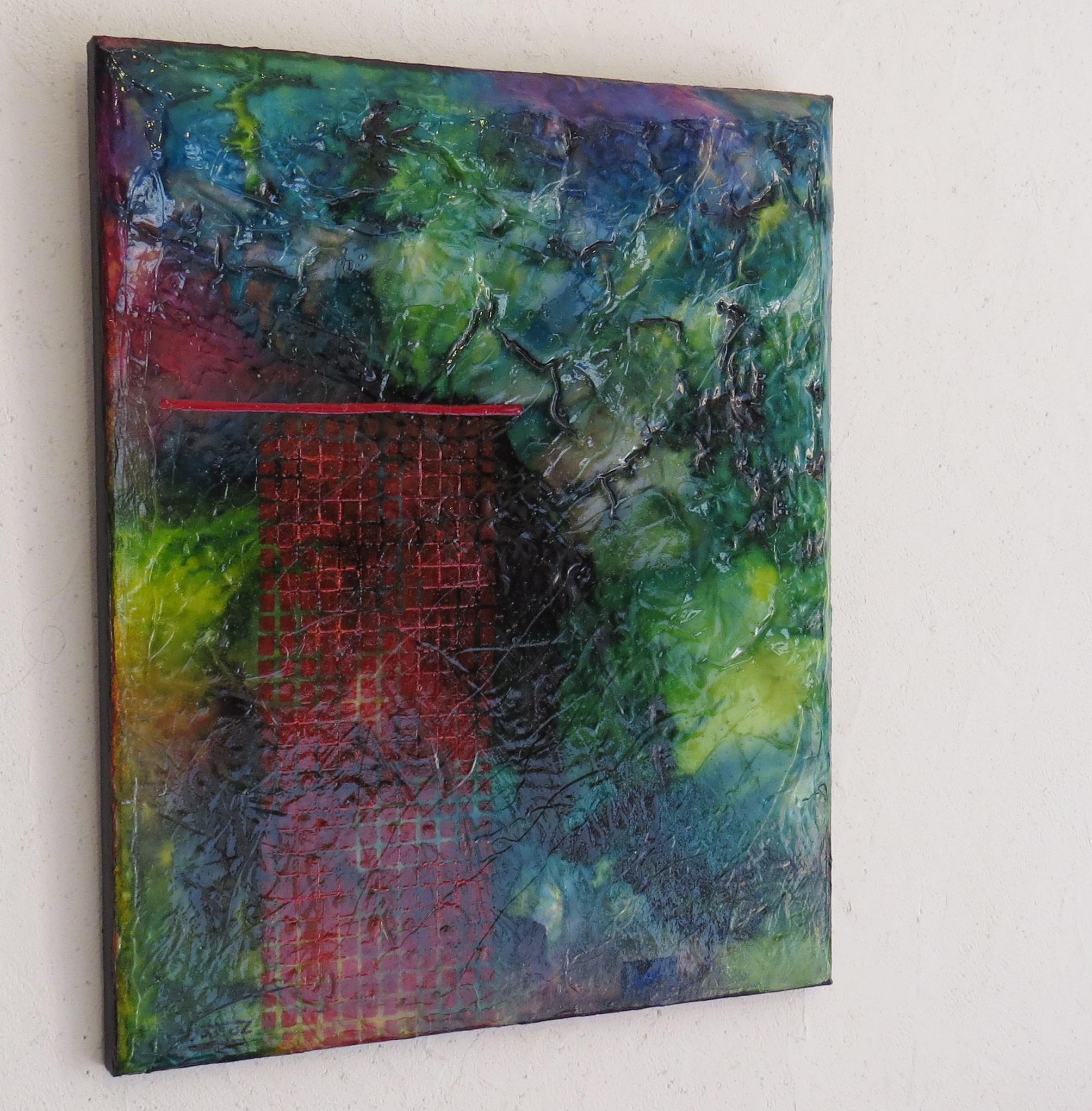 nimbes - vue côté1 - DALUZ GALEGO - peinture abstraite