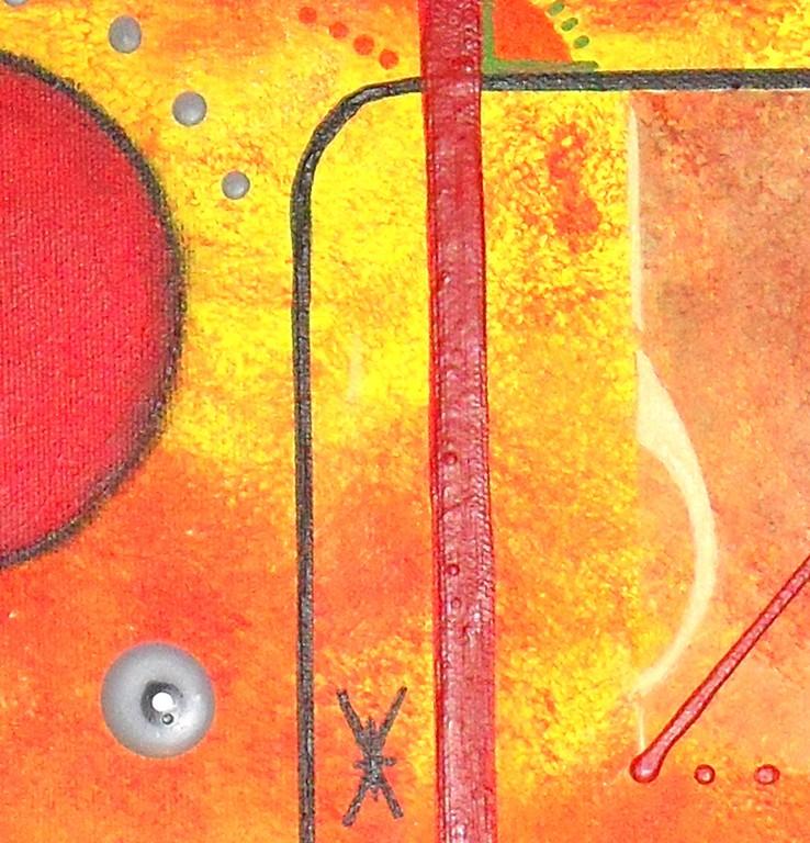 univers k - zoom1, tableau abstrait