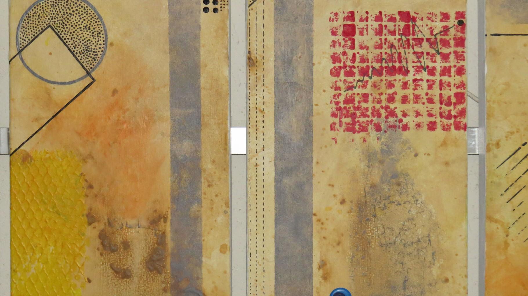 circuit imprimé zoom2 - daluz galego tableau abstrait abstraction