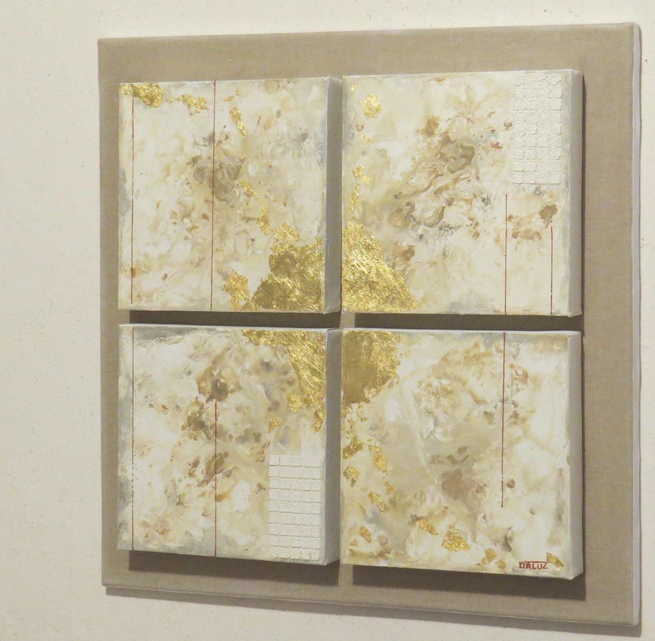 archipel vue côté2. tableau. abstrait. abstraction