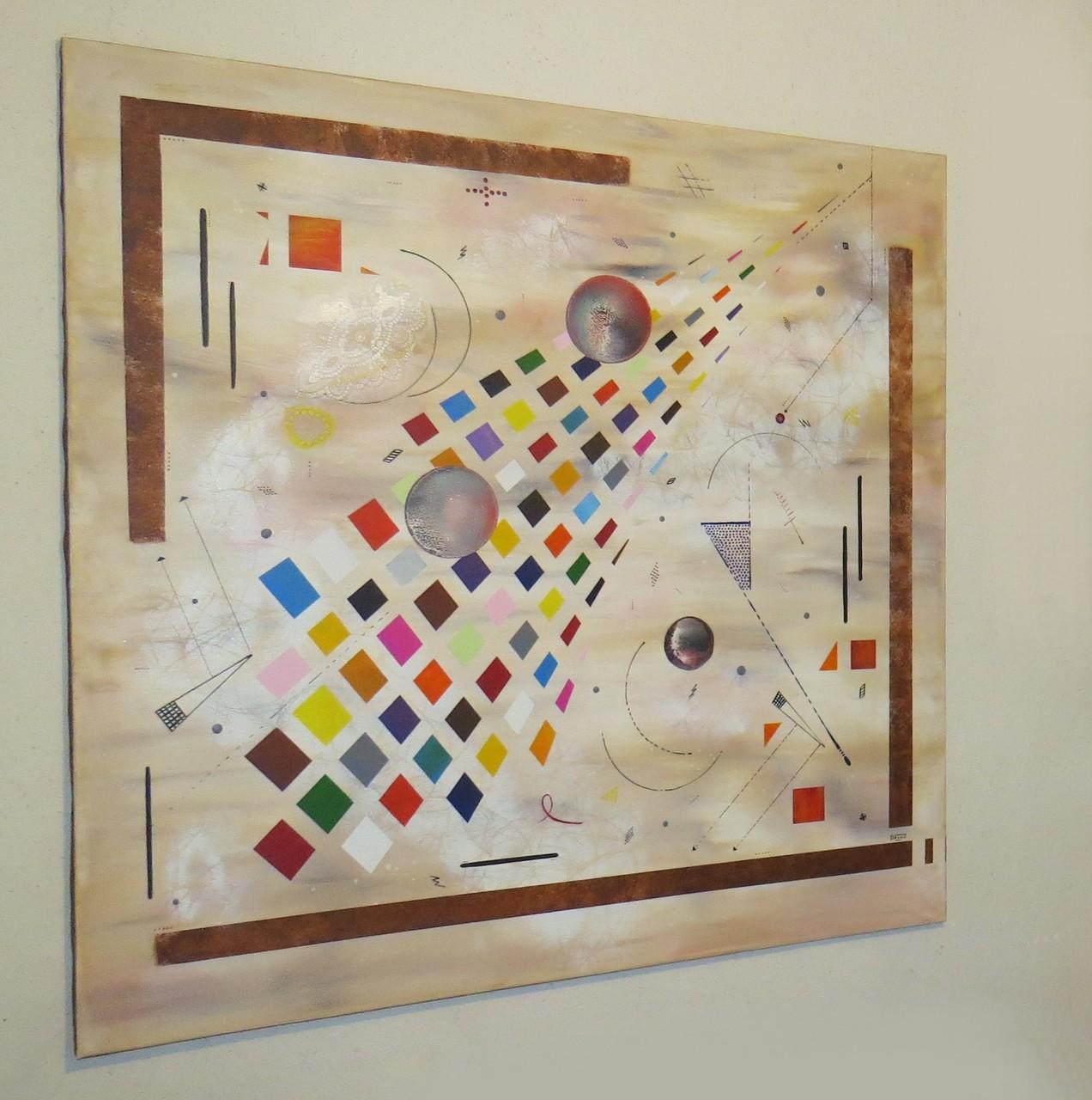 collusion vue côté1 - daluz peinture abstraite abstraction