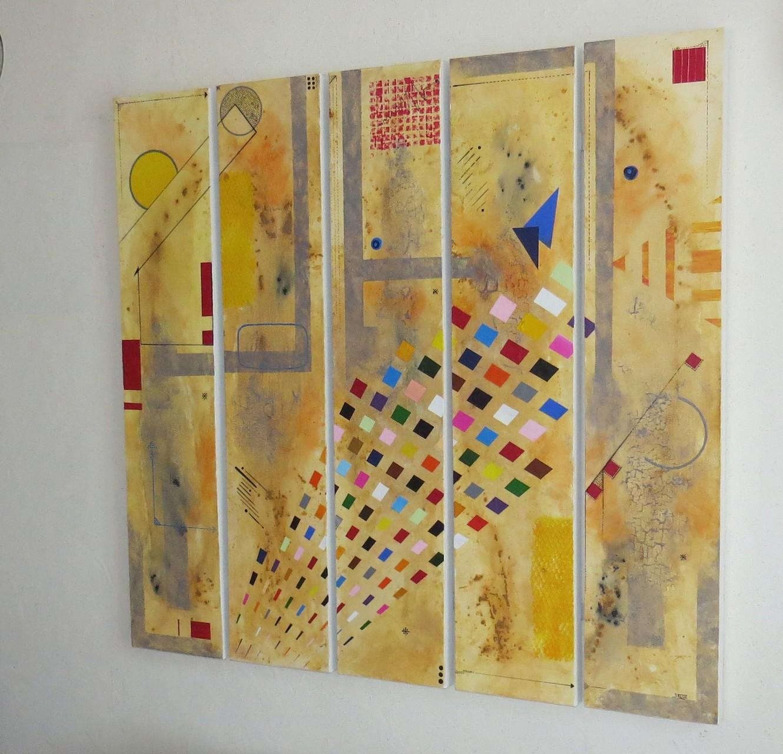 circuit imprimé vue côté2 - daluz galego tableau abstrait abstraction
