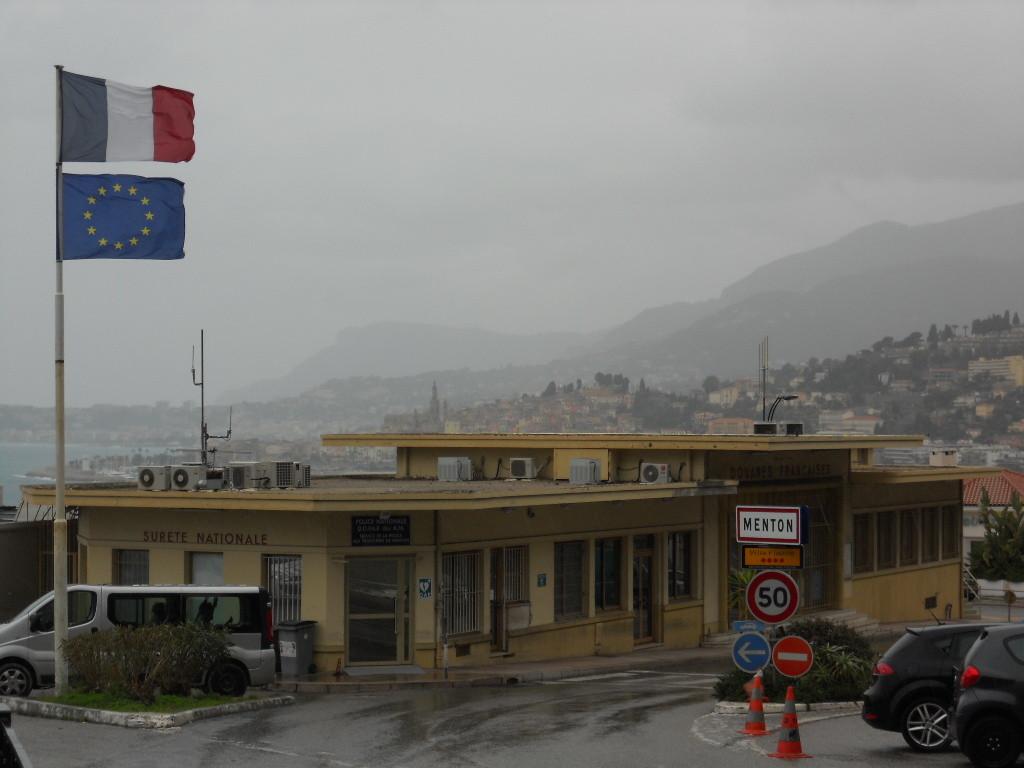 Grenze Italien zu Frankreich