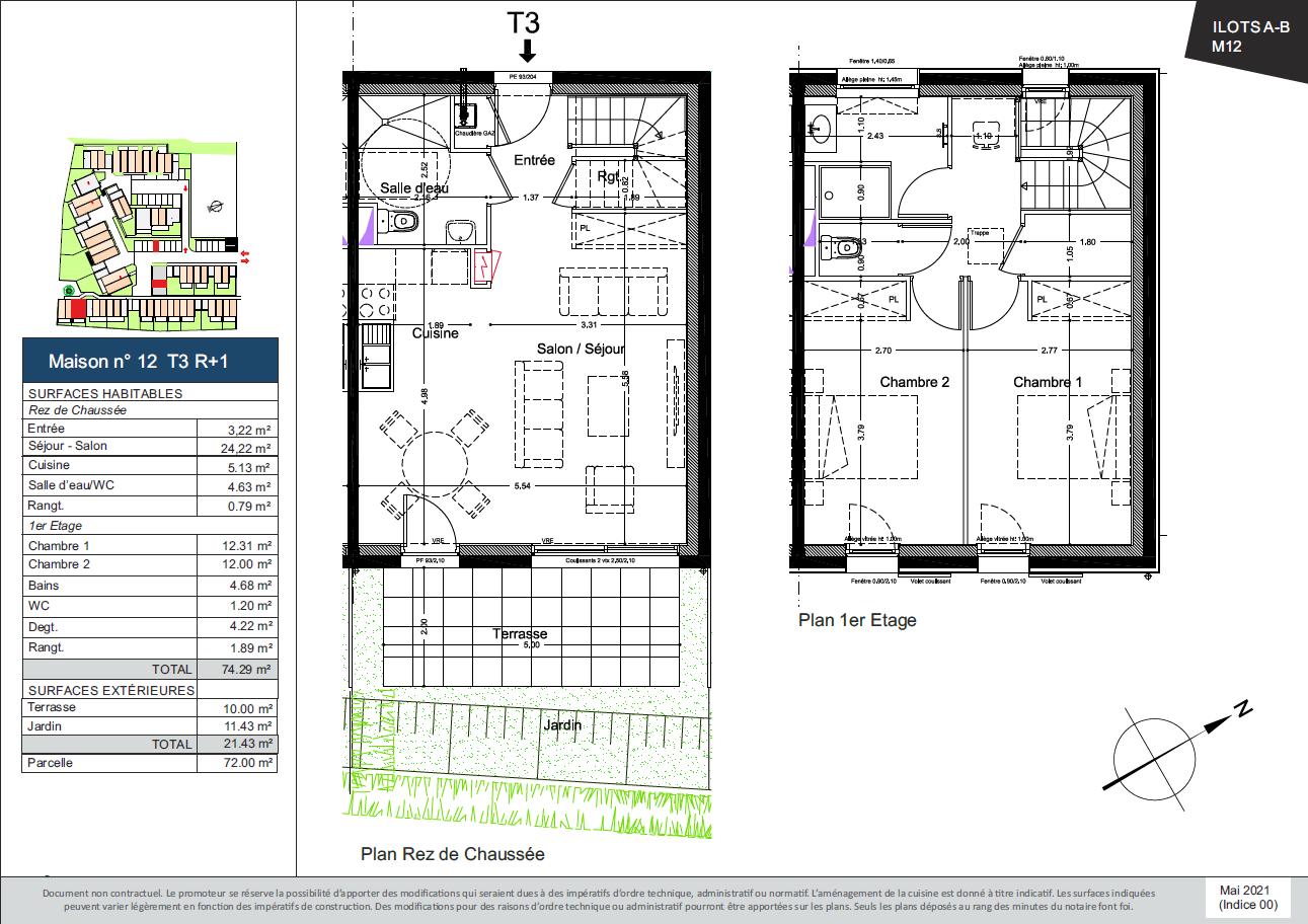 Plan de la Maison 12