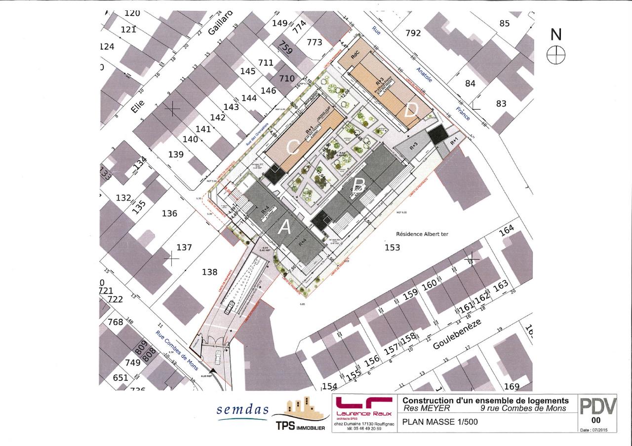 Plan d'ensemble de la résidence MEYER