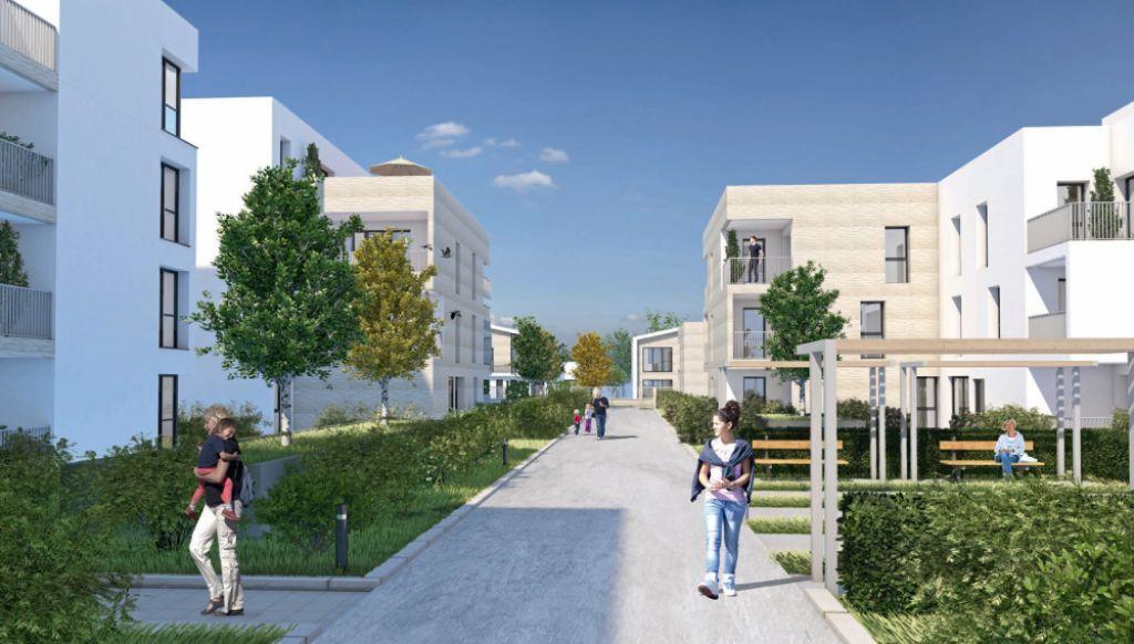Arrière de l'ensemble Immobilier neuf sur La Rochelle